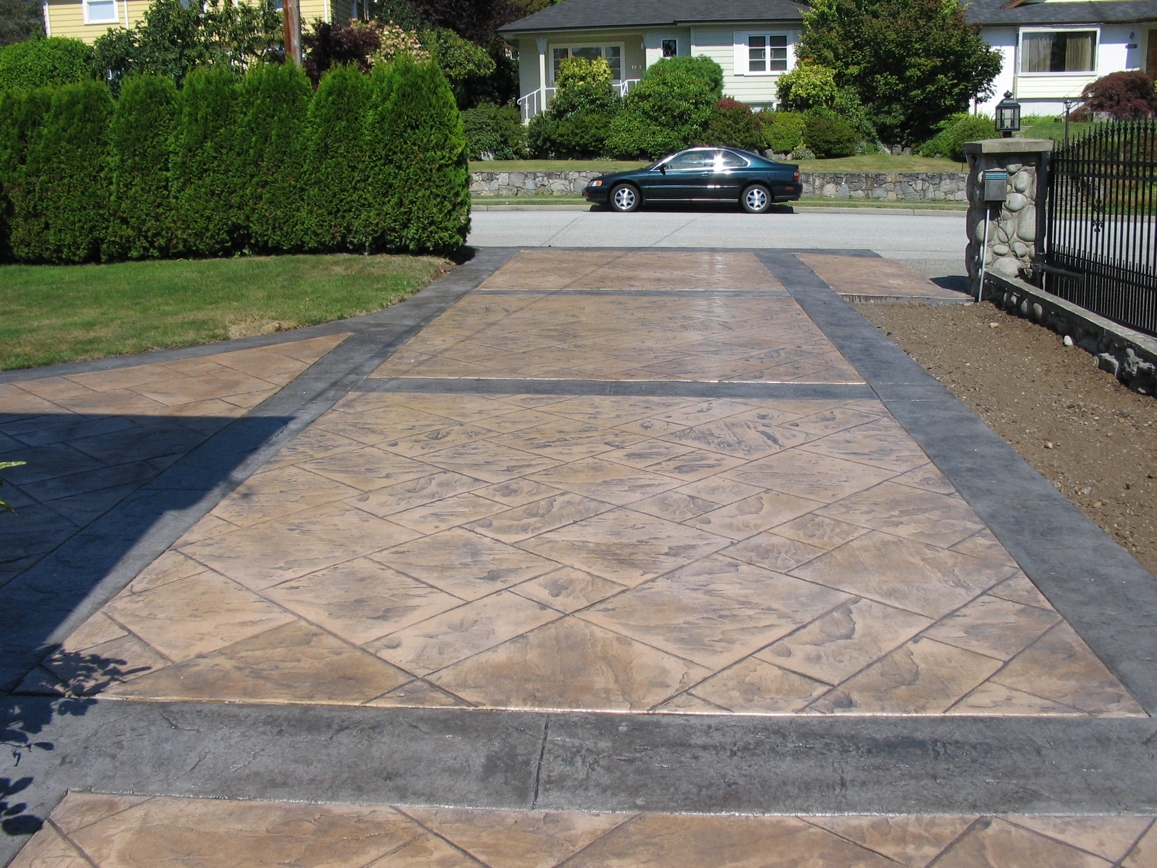 Decorative concrete driveways harmon concrete brea for New concrete driveway