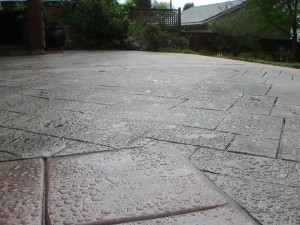 Stamped Concrete Patio in Vancouver, BC
