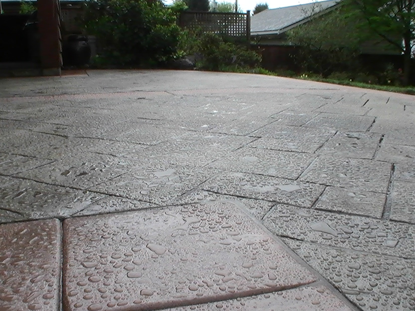 stamped concrete patio in vancouver bc